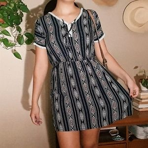 Patterned Light Weight Casual Dress